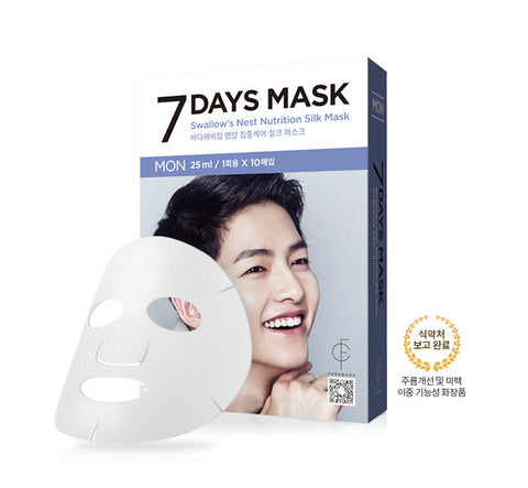 Forencos -Song Joong-gi mask pack [Monday] Seven Days mask set 10'lu (10x25ml)