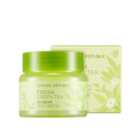 Nature Republic - Fresh Green Tea 80 Cream 55ml