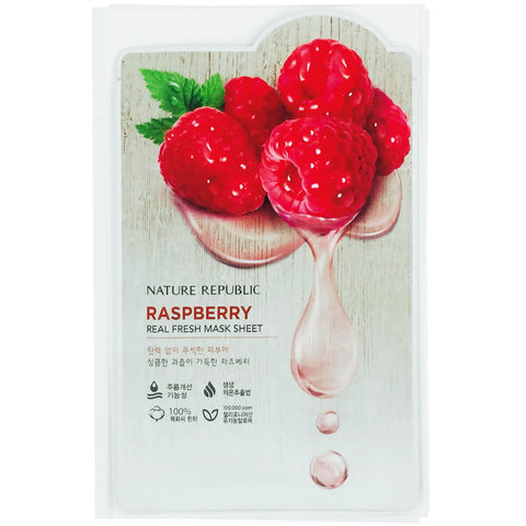Nature Republic - Real Fresh Mask Sheet Raspberry