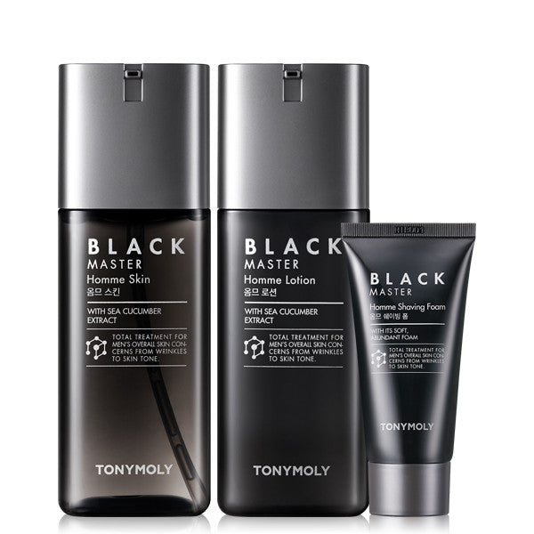 Tony Moly - Black Master Homme Skincare Set 130ml+130ml+50ml