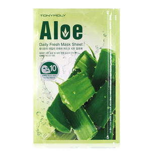 Tony Moly - Daily Fresh Aloe Mask Sheet 10 Sheets 150g
