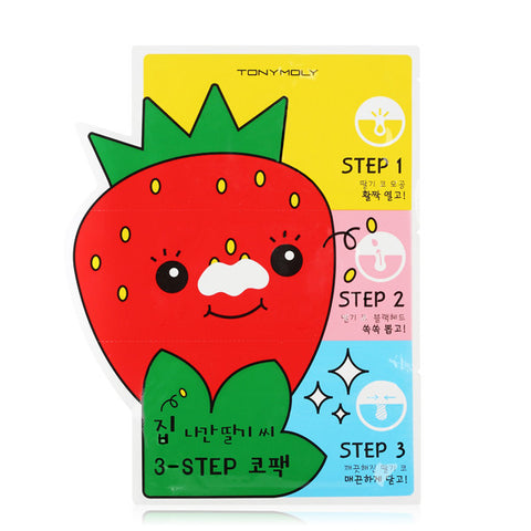 Tony Moly - Strawberry 3-Step Nose Pack 6gx 3ad