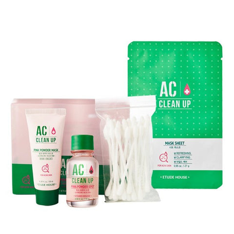 Etude House - [SET] AC Clean Up Pink Powder Duo (Mask + Spot)