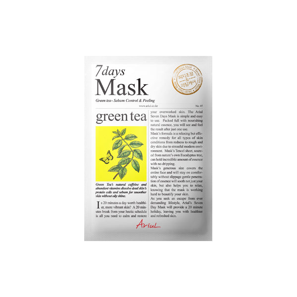 Ariul - 7Days Mask-Green Tea 20gr
