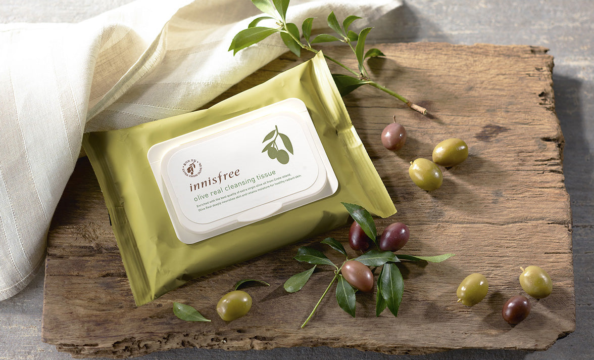 Innisfree - Olive Real Cleansing Tissue, 30 Sheets, 150gr