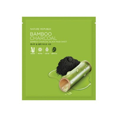 Nature Republic - Bamboo Charcoal Black Mask Sheet