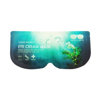 Nature Republic - Aqua Collagen Solution Marine Hydrogel Eye Cream Mask