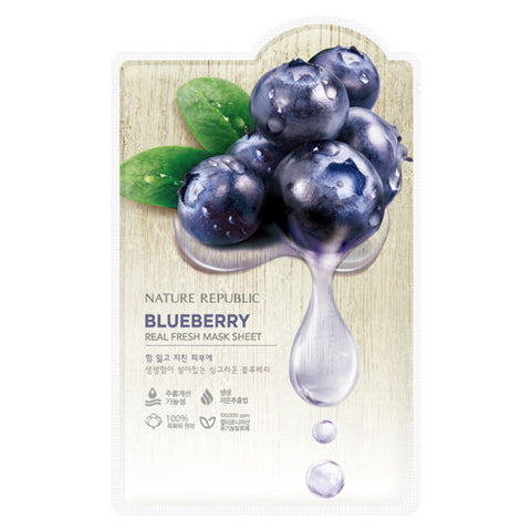 Nature Republic - Real Fresh Mask Sheet Blueberry 30ml