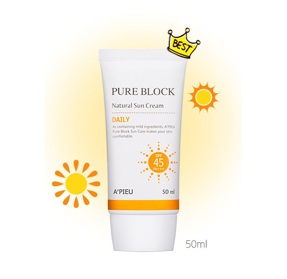 Apieu - Pure Block Natural Sun Cream  50ml