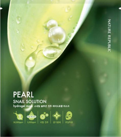 Nature Republic – Snail Solution Perl Hydrogel Mask