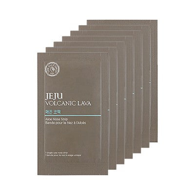 The Face Shop - Jeju Volcanic Lava Aloe Nose Strips Package (7'li)