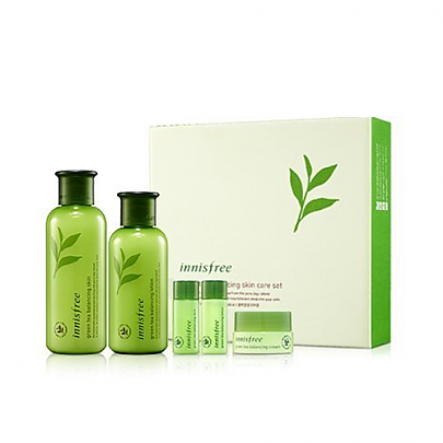 Innisfree - Greentea Balancing Skin Care Set