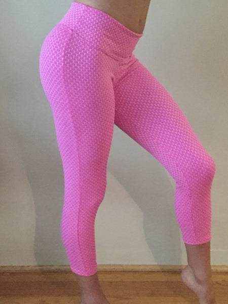 Pink Textured Leggings - She By Anna