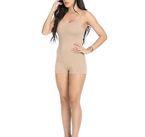 Short Beige Jumpsuit - She By Anna