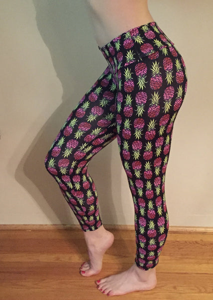 Pink Pineapple Leggings - She By Anna