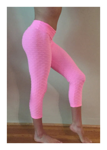 Textured Leggings in Bubblegum - She By Anna