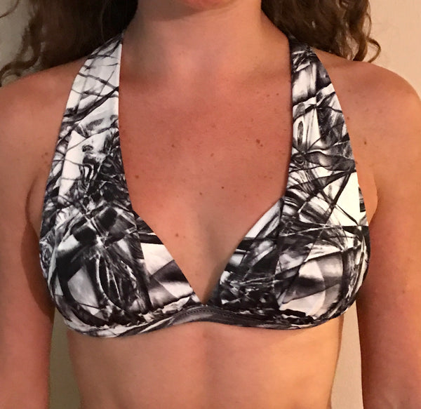 Graffiti Padded Bra Top - She By Anna