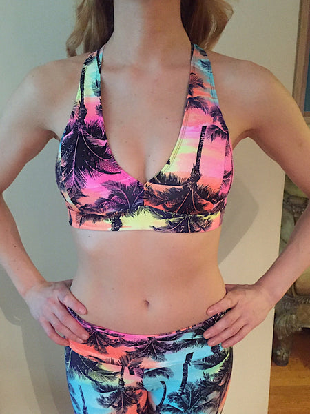 Palm Trees Bra Top - She By Anna