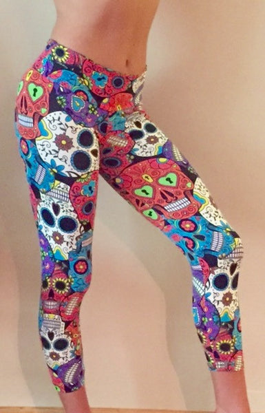 Sugar Skull Leggings - She By Anna