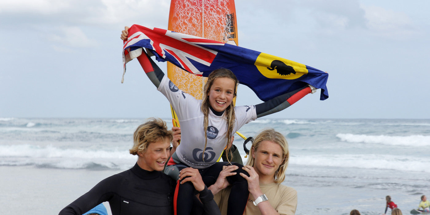 SIX STATE CHAMPIONS CROWNED AT THE FINAL STOP OF THE WOOLWORTHS WA JUNIOR SURFING TITLES IN GERALDTON