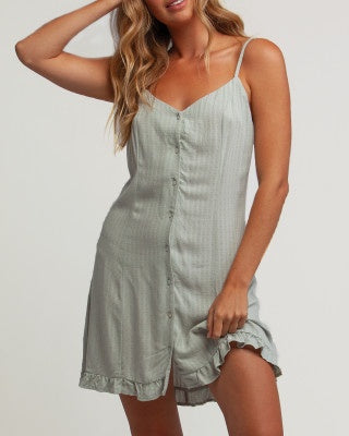 Megan Button Front Dress