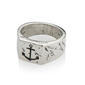 Mens Anchor Ring