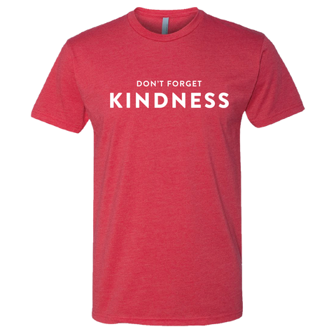 "Poole's Red ""Don't Forget Kindness"" T-Shirt"