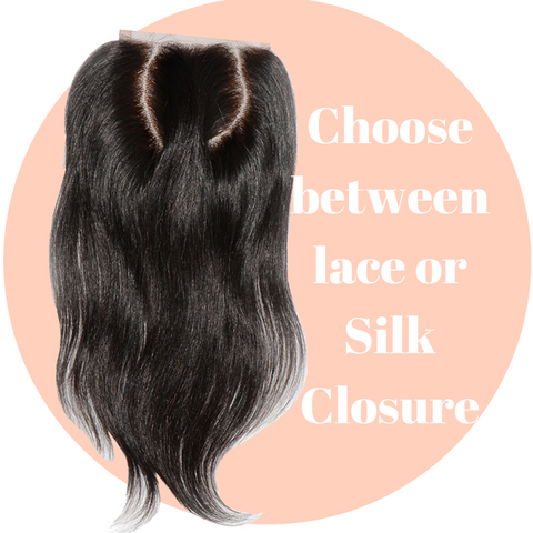 Raw indian Lace and silk based closure