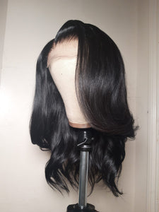 "Vicky - 16"" Black Layered wig"