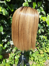 Load image into Gallery viewer, Eloise - Asymmetrical ash blonde bob