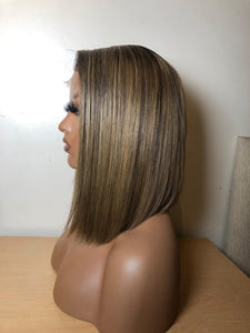 A symmetrical ash blonde bob - Nu Hair