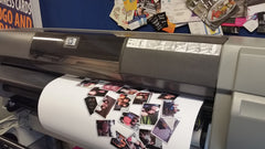 Photo Collage being printed