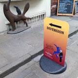 Pavement sign including double sided graphics - York Print Company - 1