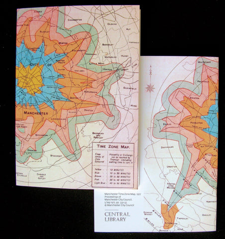 Manchester Time Zone Map A5 Notebook