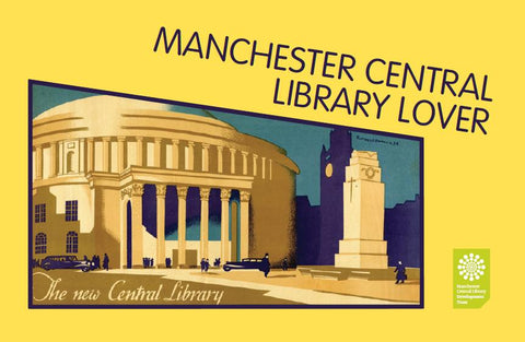 Library Lovers poster featuring Central Library image from 1934 transport poster.