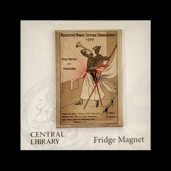 Manchester Women's Suffrage Demonstrations 1908 Fridge Magnet.