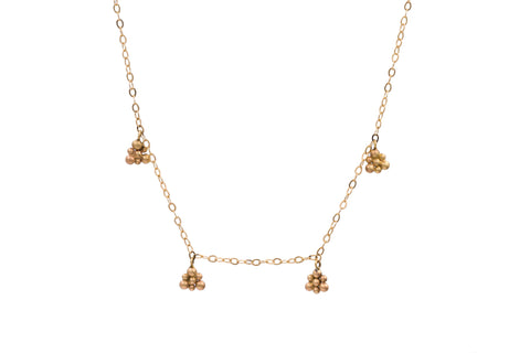 14k Yellow Gold Triangle Charm Necklace