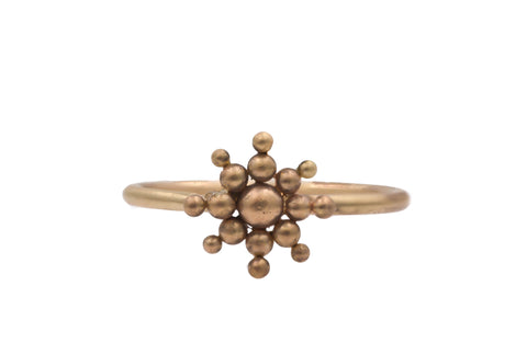 14k Yellow Gold Starburst Ring
