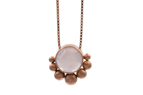 14k Rose Gold Chalcedony Necklace