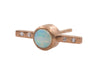 Bezel Bar Stud - Rose Gold