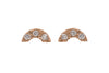 Diamond U Stud Earrings