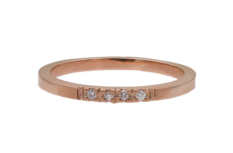 Gold Pavé Diamond Band