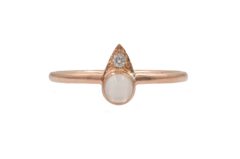 Diamond Moonstone Kate Ring