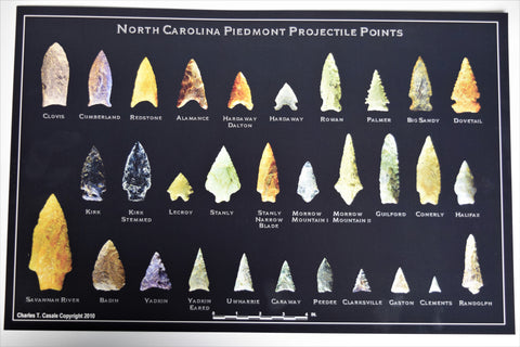 NC Piedmont Projectile Points Poster
