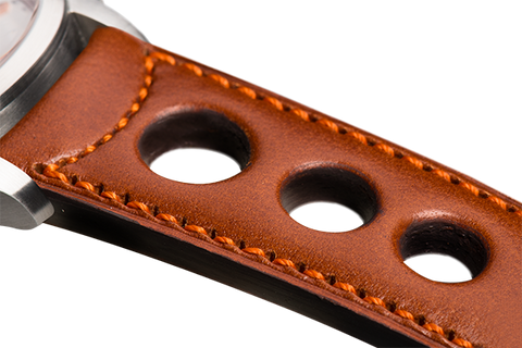 Sport: natural eco calfskin - orange stitching
