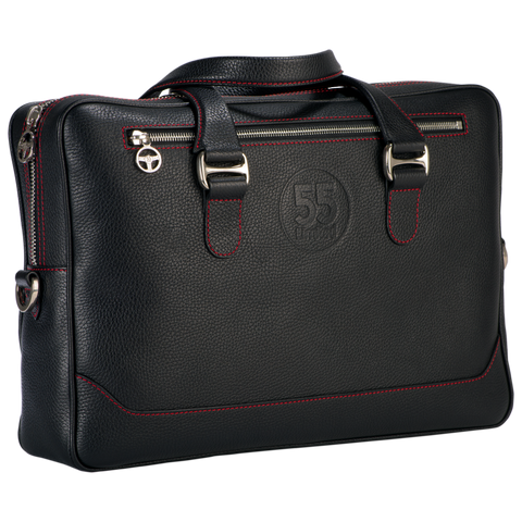 City Briefcase: Black - Red