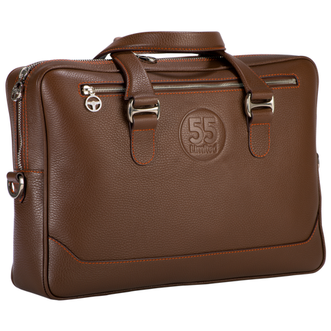 City Briefcase: Brown - Orange