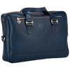 City Briefcase: Navy - Orange -  Leather-good - Raidillon