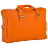 City Briefcase: Orange - Natural -  Leather-good - Raidillon