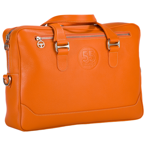 City Briefcase: Orange - Natural